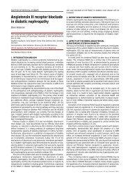 Angiotensin II receptor blockade in diabetic nephropathy