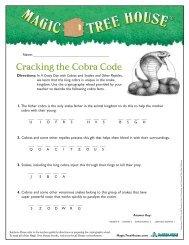 Cracking the Cobra Code - Magic Tree House