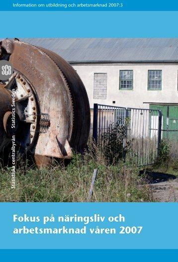 Fokus på näringsliv och arbetsmarknad våren 2007 - Statistiska ...