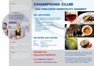 champions club - das exklusive hospitality ... - GM Consult IT GmbH
