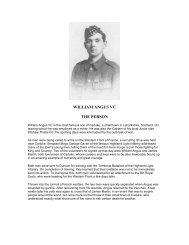 LCpl Angus VC - The Royal Highland Fusiliers