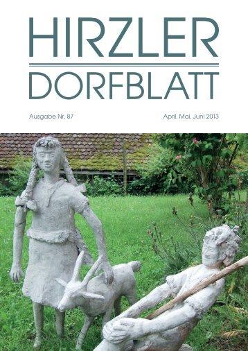 Dorfblatt 87 - Gemeinde Hirzel
