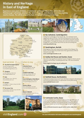 History and Heritage in East of England - VisitEngland