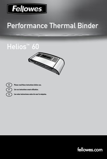 Helios 60 Manual - Fellowes