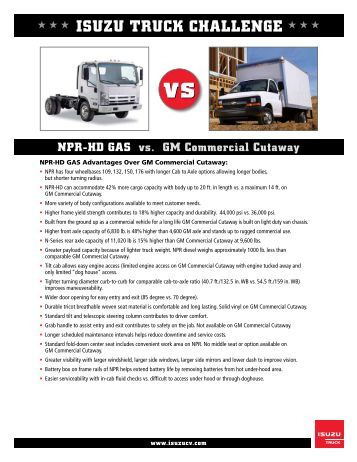 npr and npr hd truck specifications commercial trucks. Black Bedroom Furniture Sets. Home Design Ideas