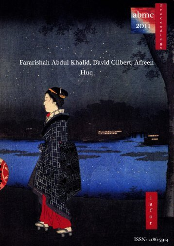 Fararishah Abdul Khalid, David Gilbert, Afreen Huq - The ...