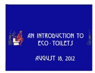 Eco-Toilets and Nutrient Recovery - New Alchemy Institute