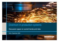 Downturn in production systems