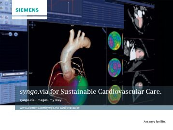 syngo. via for Sustainable Cardiovascular Care. - Siemens Healthcare