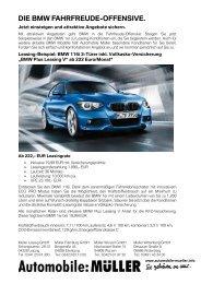 Leasingangebot BMW 1er - Automobile Müller