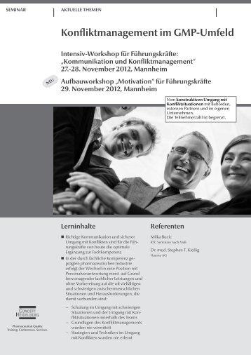 Konfliktmanagement im GMP-Umfeld - GMP-Navigator