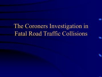 Dr Brian Farrell, Dublin City Coroner - Road Safety Authority