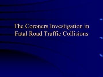 Dr Brian Farrell, Dublin City Coroner - Road Safety Authority
