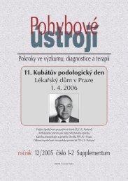 Supplementum 1+2/2005 - Společnost pro pojivové tkáně