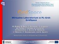 GridSpace - Projekt PL-Grid