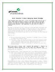 Girl Scouts 2 Hour Helping Hand Pledge - Girl Scouts of Central Illinois