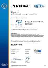 Zertifikat nach DIN EN ISO 9001 (Pdf-Datei - Sonepar Deutschland