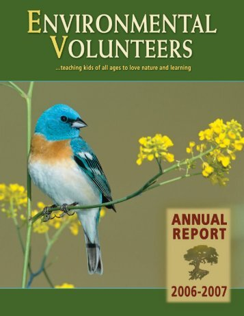 2007 Annual Report - Environmental Volunteers