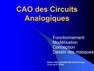 1. Les composants et circuits en Microélectronique - Free