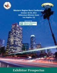 Exhibitor Prospectus - American Burn Association