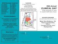 Clinical Day Brochure 2010 - St. Joseph's Health Centre Toronto
