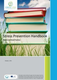 Stress Prevention Handbook - Sociedade Portuguesa de Inovação