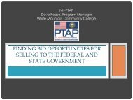 Finding Bid Opportunities for Selling to Federal and State Government
