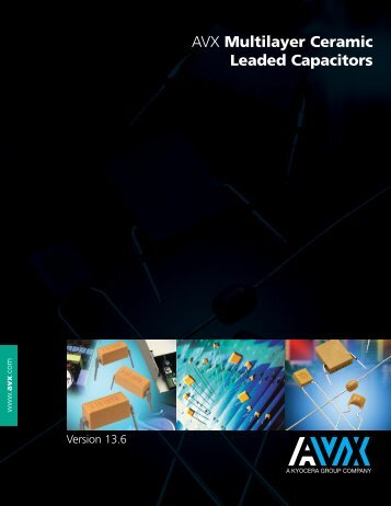 Multilayer Ceramic Leaded Capacitors - AVX