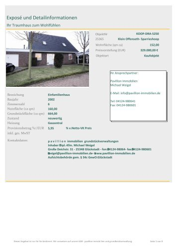 KOOP-DRA-5250 Ihr Traumhaus zum Wohlfühlen - pavillion ...