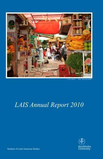 Annual Report 2010 - Institute of Latin American Studies