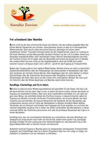 Frei schwebend über Namibia