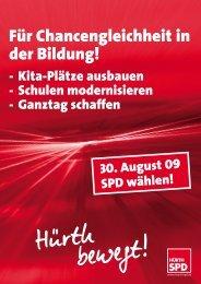 Broschüre Bildung.indd - SPD Ortsverein Hürth