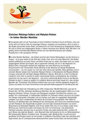 im hohen Norden Namibias - Namibia Tourism