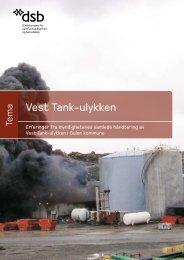 Vest Tank-ulykken - Direktoratet for samfunnssikkerhet og beredskap