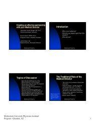 Handouts - Physician Assistant Education Association
