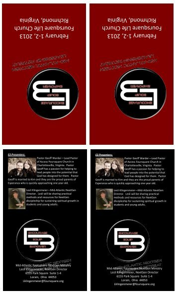 VA Region E3 Brochure 2013 - Mid-Atlantic District