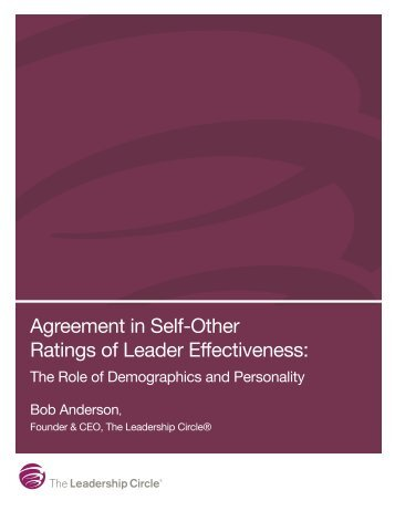 Agreement in Self-Other Ratings of Leader Effectiveness: