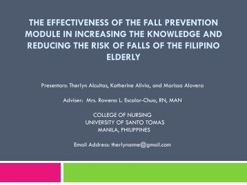 the effectiveness of the fall prevention module in increasing ... - IUPUI