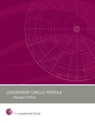 Manager Edition - The Leadership Circle