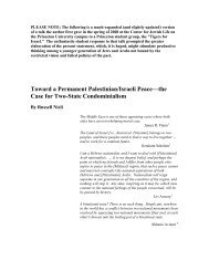 Toward a Permanent Palestinian/Israeli Peace ... - Tikkun Magazine