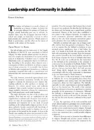 Leadership and Community in Judaism - Tikkun Magazine