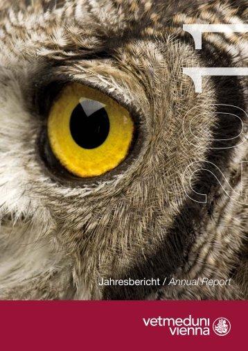 Jahresbericht 2011 - Veterinärmedizinische Universität Wien