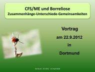 CFS/ME und Borreliose - Dr. Hopf-Seidel