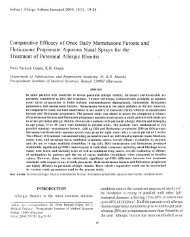 Comparative Efficacy of Once Daily Mometasone Furoate ... - medIND