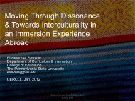 Moving Through Dissonance & Towards Interculturality in ... - CERCLL