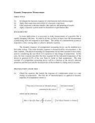 Dynamic Temperature Measurements OBJECTIVES (1) Investigate ...