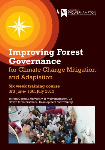 Improving Forest Governance Six week training course