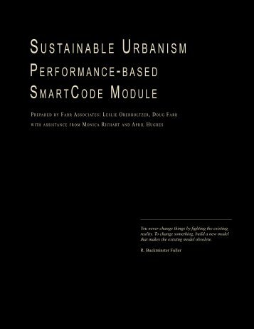 SUSTAINABLE URBANISM - Center for Applied Transect Studies