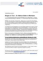 Biogas on Tour – Dr. Markus Söder in Meinheim