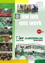 JAARVERSLAG - ACV Kempen